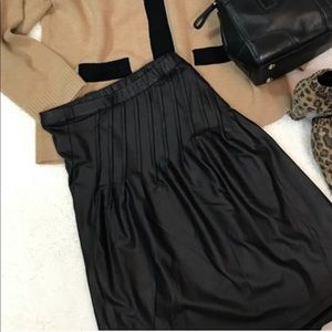 NWT Black Faux Leather Skirt